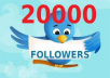 Add 20,000+ Twitter Follower Without Need Of Your Password Or Admin Acess With Real and Active Looking User