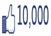 give you 10,000 Facebook fan page likes