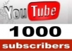 provide you 700+ high quality Real human Youtube Subscribers [Safe and FAST] 