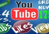 provide 500 real human youtube video views 500 subscribers and 500 likes for