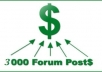 Create 2000+Forums Posting Backlinks on all languages Forums