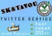 deliver 10000 twitter followers