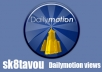 deliver 1000 views to your dailymotion video