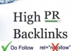 create more than 2000+ High PR and 2000+ Dofollow Backlinks to your website