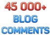 Build up your site with 45,000 blog comment backlinks