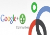 I will Publish/post your website/any LINK to over 500 000 (500k) Google+1 Communities members