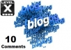 make 10 Comments on your Blog Posts