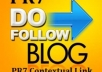 post your article to my strong PR7 blogs with CONTEXTUAL backlink to make your website Dominate Google