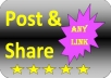 Submit+publish+share=Advertise your exclusive websites URL and any type of link over 10 million (10000000) facebook groups or Fan and 5000 Facebook friends wall post