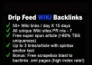 drip feed 50+ wiki backlinks per day for 15 days + free super spun article included + xml link pages + scrapebox blast crawl boost