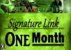 put your link in my PR2 forum signature for 1 month