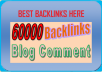 Create Massive link jusice to your wwebsite by providig 60 000 Blog comments to your website