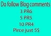 do 3 PR6, 5 PR5, 10 PR4, High PR do follow and actual PageRank blog comments backlinks just