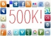 I will tweet your message to over 500,000 friends on my Social Networks