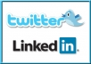 Give You Twitter 5000 Do Follower list and 5000 Linkedin Connection List