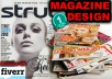 create magazine, all pages, magazine design, print layout 300dpi