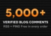 make over 30 PR3 to PR8 web 2 0 contextual backlinks and 5000 blog comments to created links and include lindexed submission 