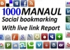 social BOOKMARK your site on 1000 Social bookmarking sites with Rss + Ping + Report