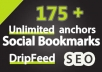 drip Feed Social Bookmarking Submissions to 175+ sites With DIVERSITY to protect you from Penguin and Panda
