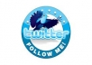 add 12,000+ real looking twitter followers within 2 days