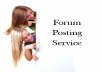 provide 20 Quality Backlinks for your website through MANUALLY forum posting