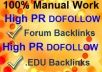 manually create 50 Verified PR7 to PR5 Dofollow Angela Backlinks including 10 Dofollow EDU