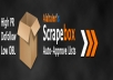 give you 20k scrapebox auto approve list with a high succes rate, about.If you are not satisfied I will give your money back