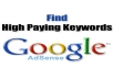 Give You a list of 3500 Highest Paying Adsense Keywords 2012 Updat