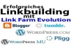 create 1500 backlinks for your website + 1000 backlinks bonus within 3 days