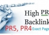 give you 4PR5, 20PR4 and 40PR3 dofollow actual page pr backlinks Plus Bonus