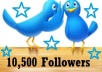give You 10,000 Twitter FOLLOWERS + 5 Pinterest Folllowers within 1 day