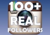 give you ★ 100+ REAL Instagram Followers ★ and Tons of Likes and Comments, Buyers Reviews speak for me within 2 days