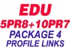create 5 PR8+ 7 PR7 Dofollow EDU Forum Profiles, Get SE0 Authority, High SERp Rankings And Increase PAGERANk, Crawl Via LinkLicious PACKAGE4