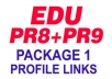 create 15 POWERFUL PR9 And PR8 Edu DoFollow Forum Profiles and Crawl Them Through My LinkLicious Account, Seo Site To Get High Serp Rankings