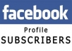 give 200 facebook subscribers within 24 hours