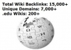 use Extreme Wiki Poster to create over 10010 contextual wikilinks from over 5000 unique domains including edu and gov wikisites