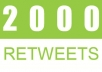 deliver 6020 Retweets and Favorites from 6020 unique profiles having 400,000 followers within 12 hours