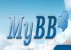 install myBB forums platform and themes