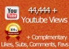 Offer you 60,999 + real views for your youtube video in just 5 days