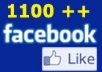 give you 1000+ VERIFIED authentic facebook likes guaranteed safe to any domain website webpage blog.