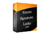 provide you niche related forum signature backlinks service only