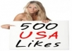 "add 500 Real USA Facebook Fans that ""Like"" your  fanpages while not admin access"