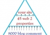 create you a powerful Link PYRAMID with 2 tier high pr with 45 Web 2 properties PR4 to PR8 and 6060 profile backlink delivered in 24h