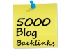 create more than 5000+ general and 250+ EDU Backlinks plus many more Best package See Inside within 5 days