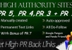manually create actual google panda and penguin friendly high pr links of pr5, pr4, pr3 dofollow backlinks with bonus of pr7 backlink within a day