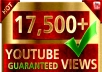 Deliver 17,500+ Youtube Video Views in 72 Hours or Less