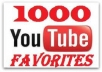 Give u 1,000 Youtube Video FAVORITES from Unique Users