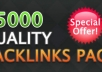 create 15050+ high quality backlinks to your website for SERP ranking
