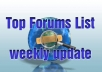 give you 1 million FORUMS List that can be used for xrumer sick submitter and weekly update to the list