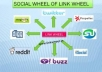 build a LINKWHEEL with 6 High pr Blog Manually And 3000 Backlink On them. Dominate The First Page Of Any Search Engine